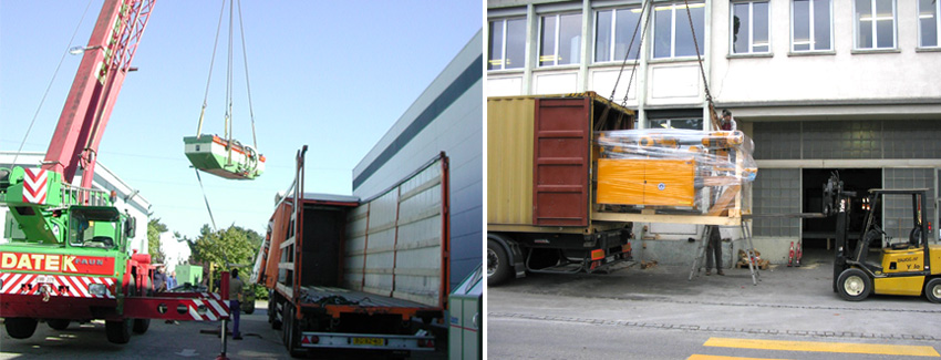 Maschinentransport - Kundeninstallationen